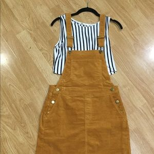 Corduroy overall dress